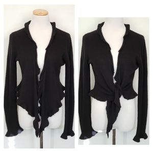 Juicy Couture Casmere Ruffle Wrap - Black 2